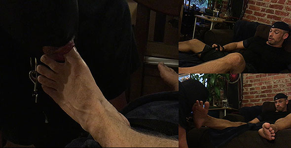 Verbal foot domination and toe sucking