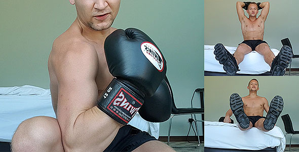 LEATHER BOXING GLOVES - ALPHA MALE WORSHIP