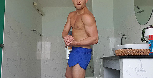 HARSH INTOX IN BLUE SHORTS - ALPHA POWER