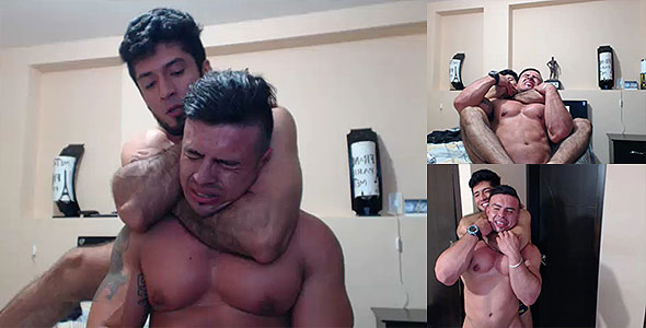 Andre the chokemaster and bodybuilder friend Paulo