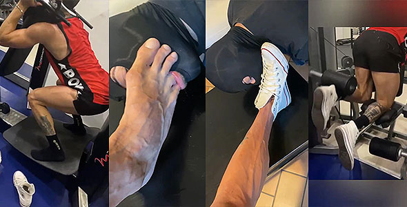 Master at gym.... And foot workout